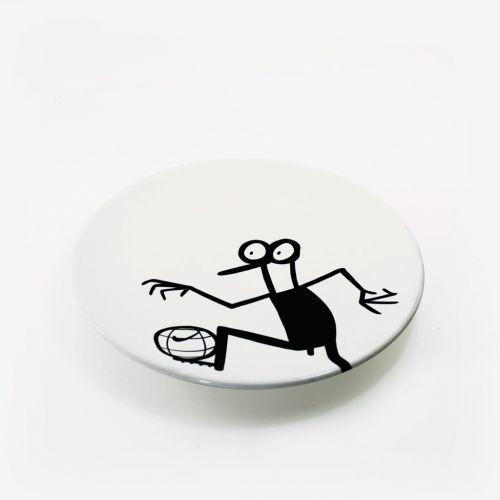 Piatto ceramica | Calcio